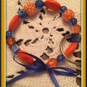 ❤️Auburn/University of Florida bracelet keychain.
